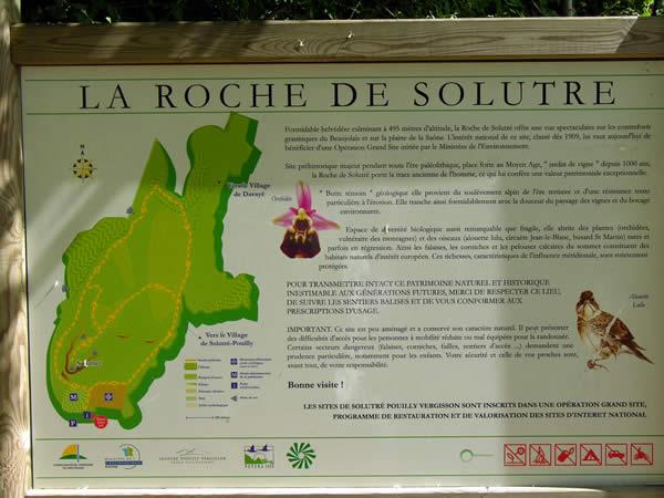 Roche de Solutré in het zuiden van de Bourgogne