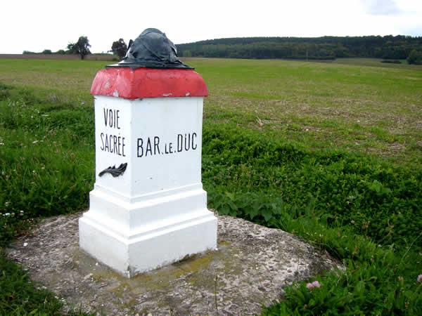 Voie Sacrée tussen Bar-le-Duc en Verdun
