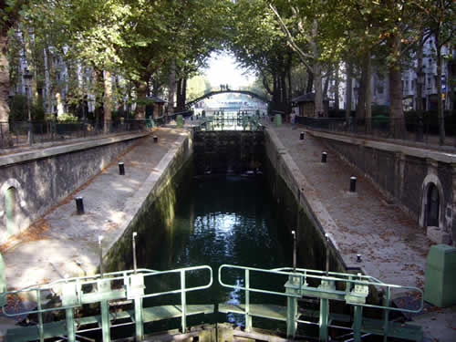 Canal St Martin in Parijs