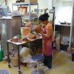 De geboorte van een pintade (parelhoen) in Lussan