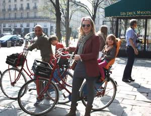 Fietsen in Parijs met kinderen