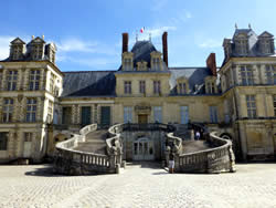 De trap van Fontainebleau