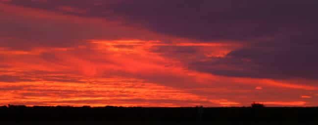 Zonsondergang bij de Loire