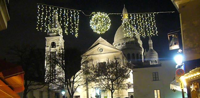 Kerst montmartre en Sacre Coeur