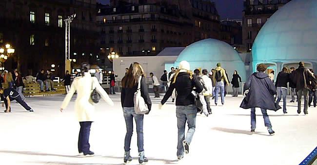 Kerst en schaatsen in Parijs
