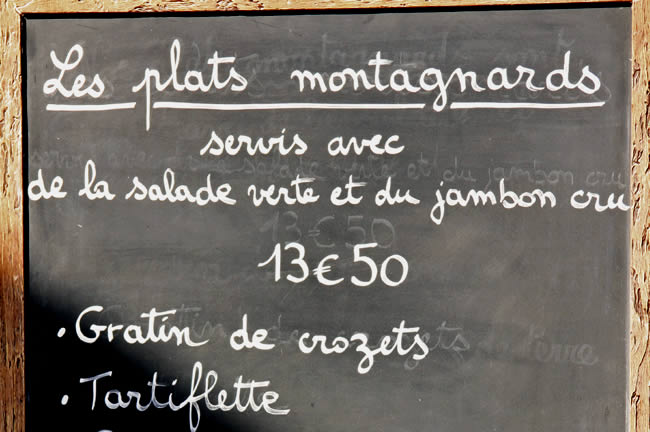 Tartiflette in de Haute - Savoie
