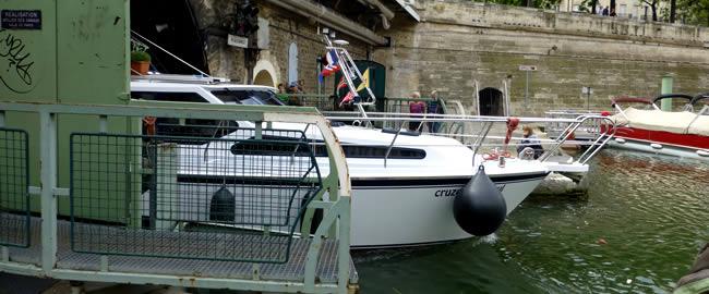 De jachthaven van Parijs