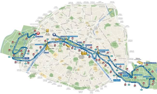 Parcours Marathon Parijs