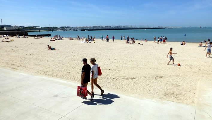 Het strand bij La Rochelle