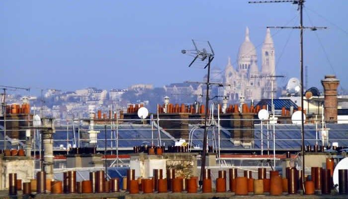 Dag 2, topuitzicht op de Sacre Coeur