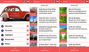 De Frankrijk Binnendoor Parijs App