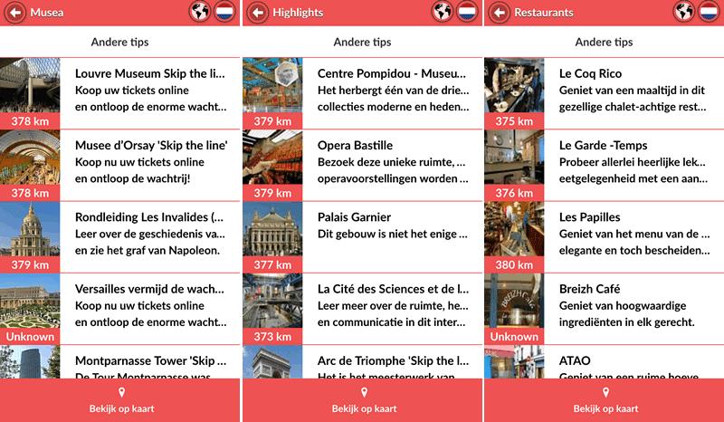 Tips in de App