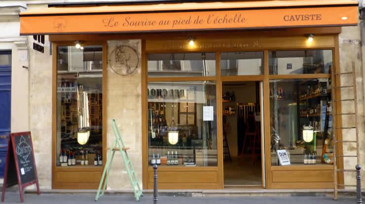 Le Sourire au Pied de l'échelle, bijzondere wijnwinkel in Parijs