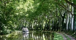 Fietsen langs het Canal du Midi bij Trèbes