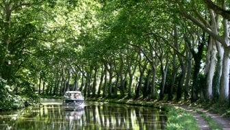 Podcast fietsen langs het Canal du Midi bij Trèbes