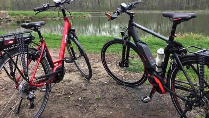 Met een e-bike in Frankrijk