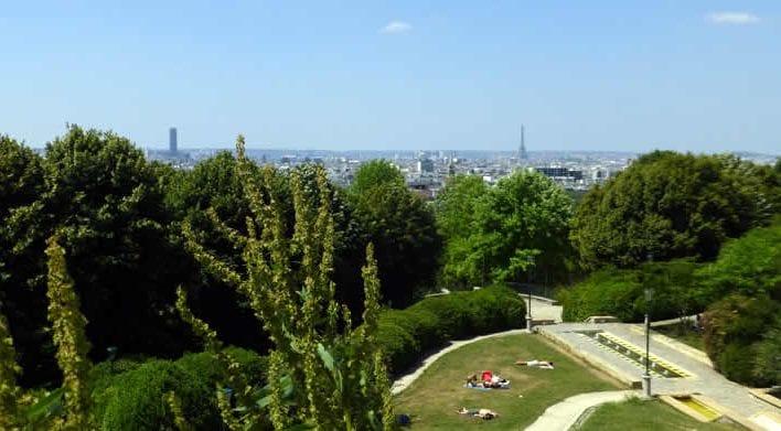 Uitzicht Parc de Belleville