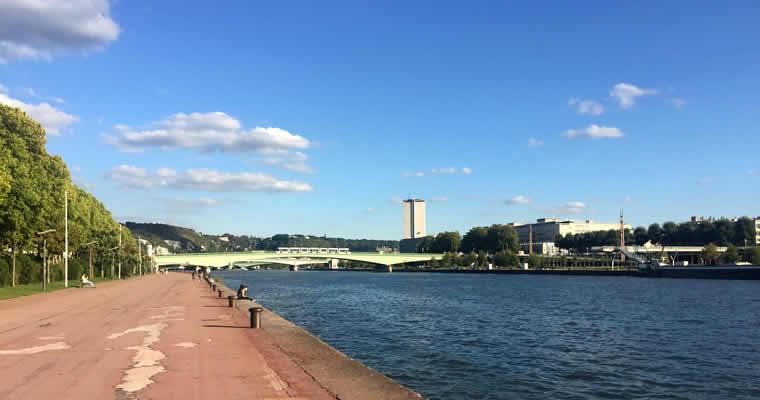 Wandel langs de Seine in Rouen
