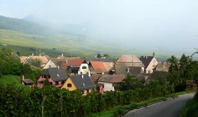 Dorpen in de wijnstreken bij Riquewihr