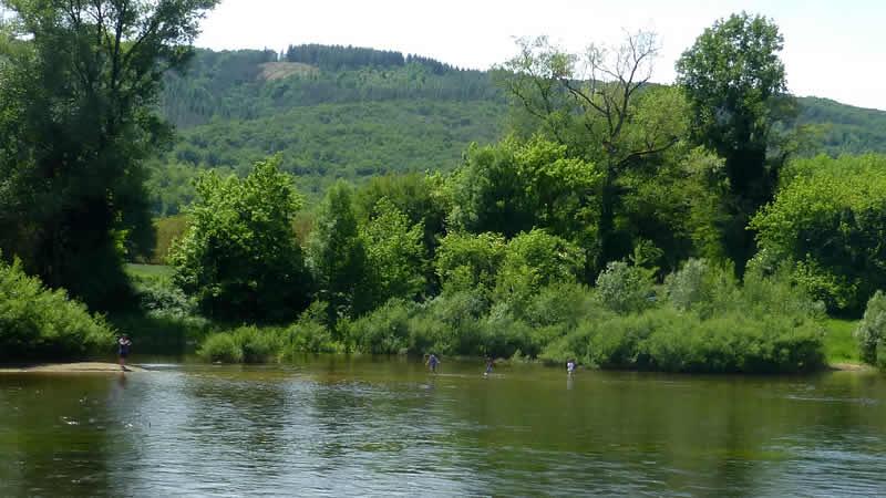 Fietsen langs de Dordogne bij Souillac met een eBike