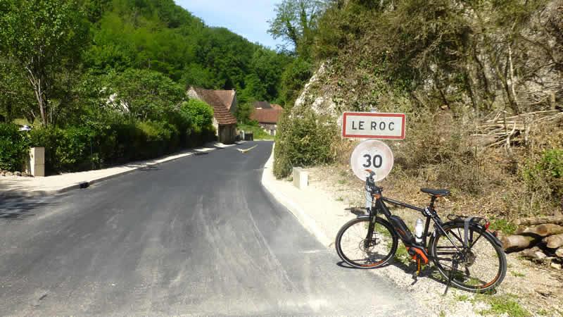 Fietstocht bij de Dordogne
