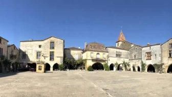 Route langs mooie bastides in Frankrijk