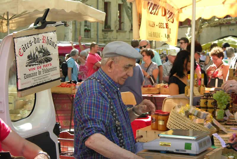 Kussen op de Franse markten