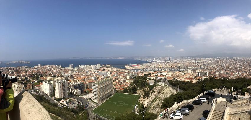 Uitzicht op Marseille
