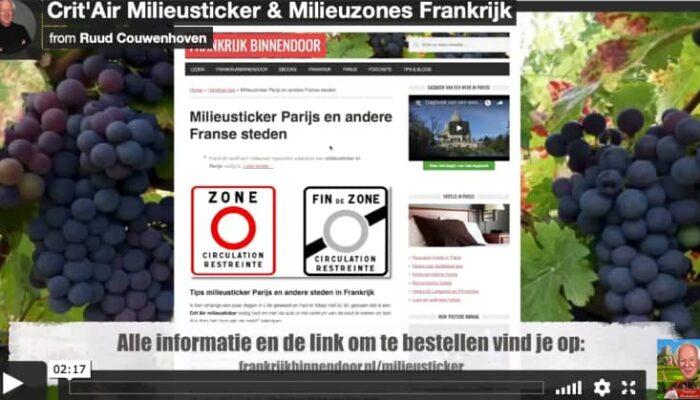 Milieusticker Frankrijk