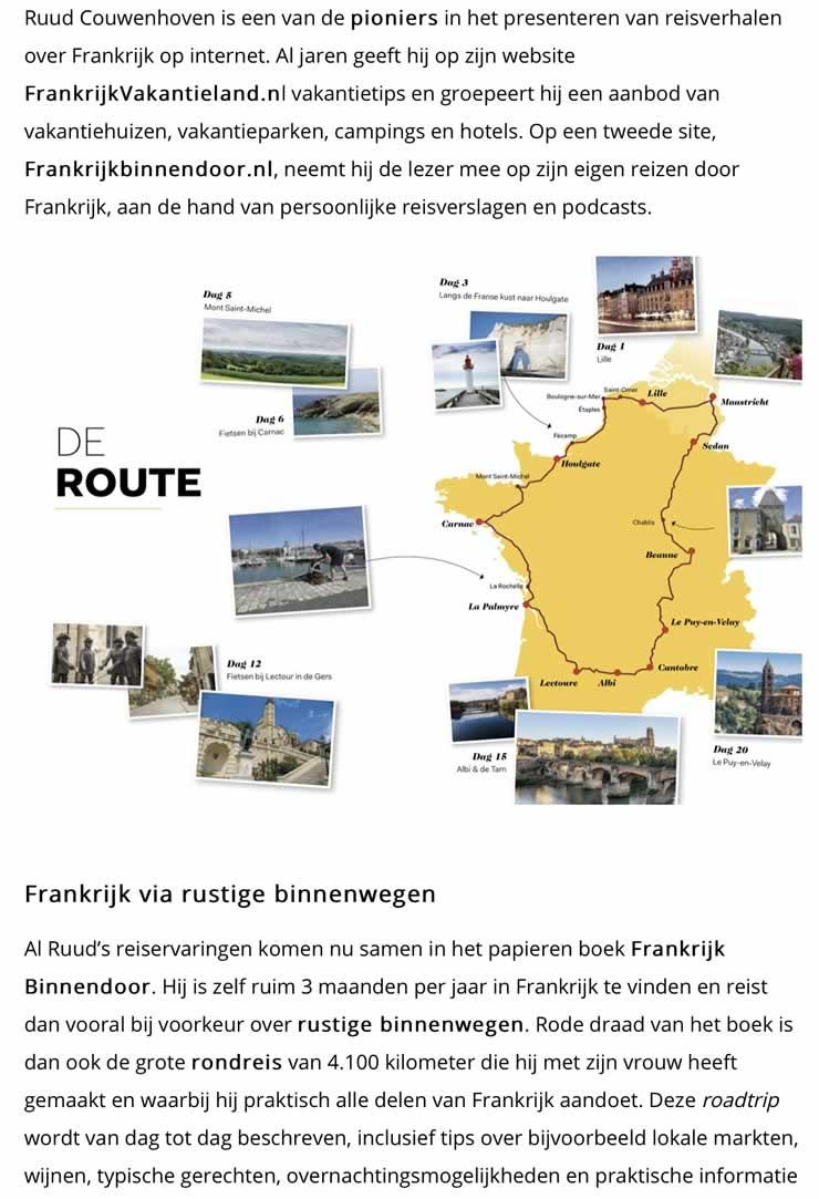 Frankrijk.nl over Frankrijk Binnendoor