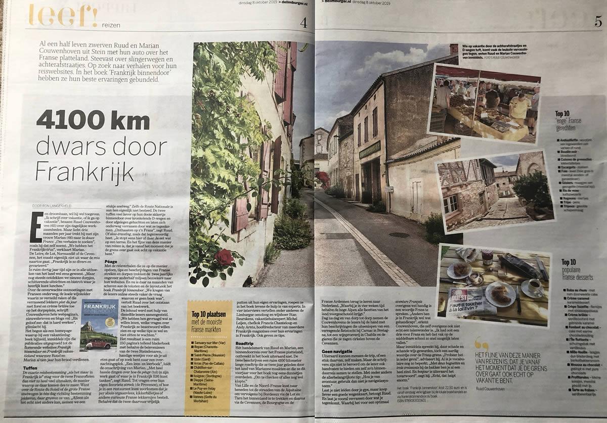 Dagblad de Limburger over Frankrijk Binnendoor