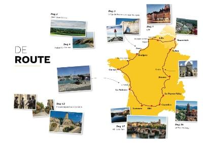 Routekaart Frankrijk Binnendoor