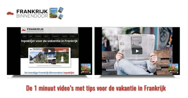 1 minuut video's 1 minuut video's met tips over Frankrijk