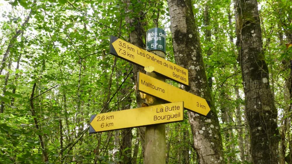 Wandelen langs PR, GR en GRP wandelroutes in Frankrijk