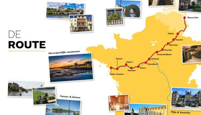 De route naar en langs de Loire