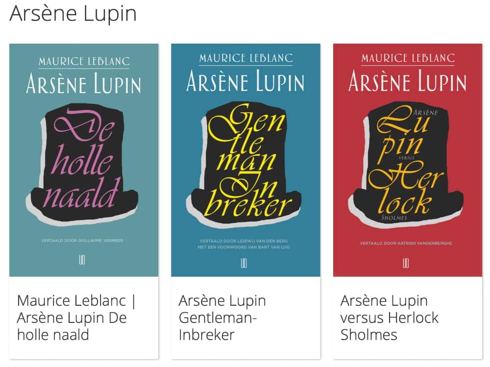 De boekjes van Lupin