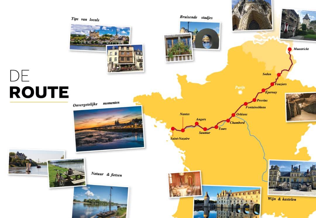 De route door de vallei van de Loire