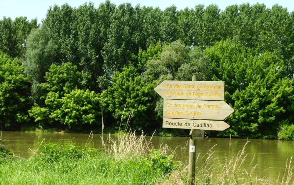 Wandeling langs de Garonne