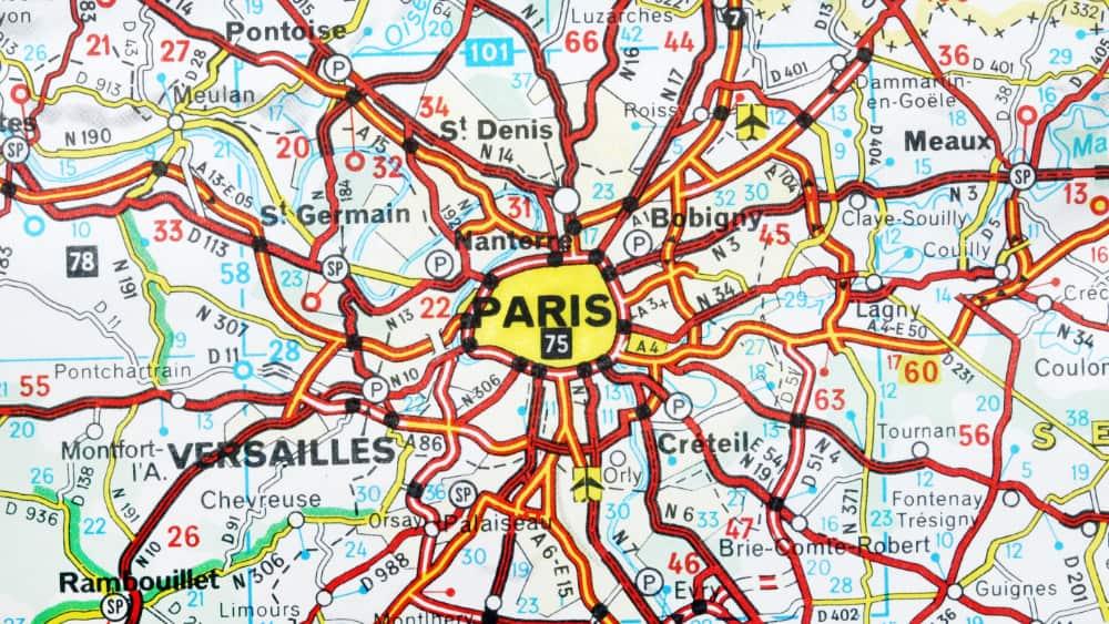 Routekaart Parijs