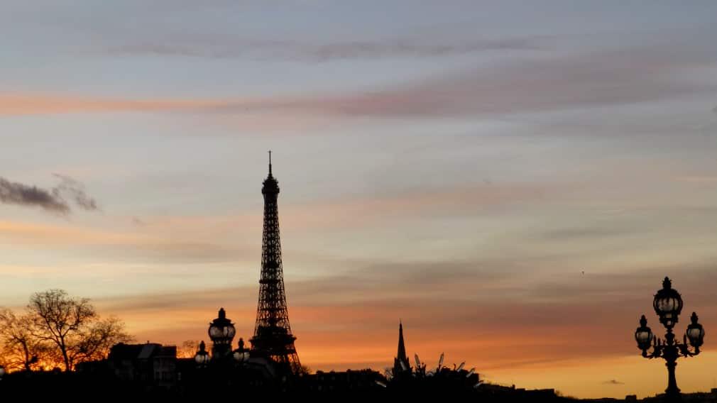 Eiffeltoren zonsondergang