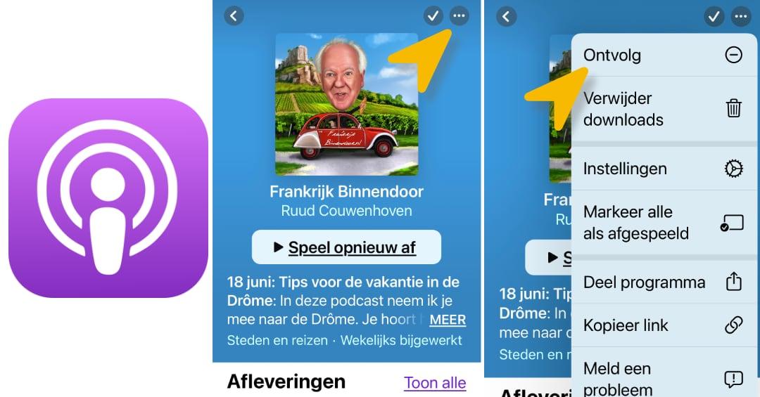 H oe gebruik je een podcast app