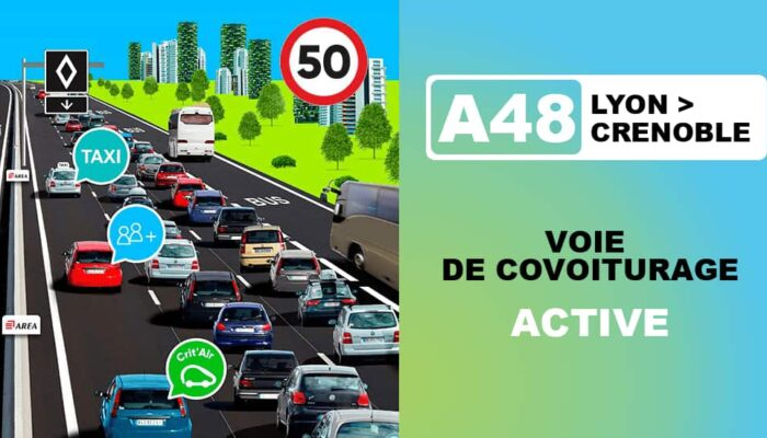 Nieuw verkeersbord auto naar Frankrijk