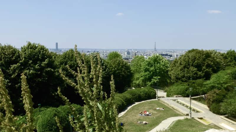 Parc Belleville Parijs